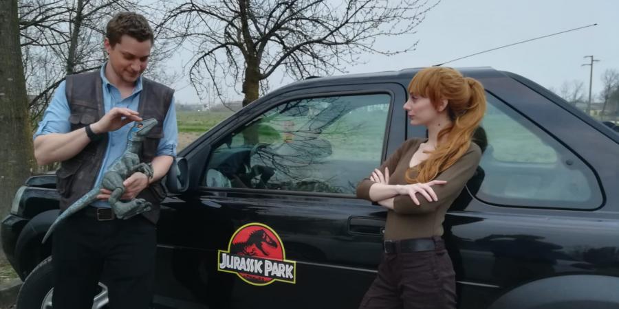 Jeep di Jurassic Park a Lucca Bimbi